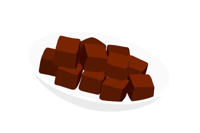 1粒チョコレート