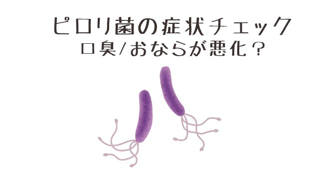 ピロリ菌の症状チェック/口臭やおならが悪化することも!